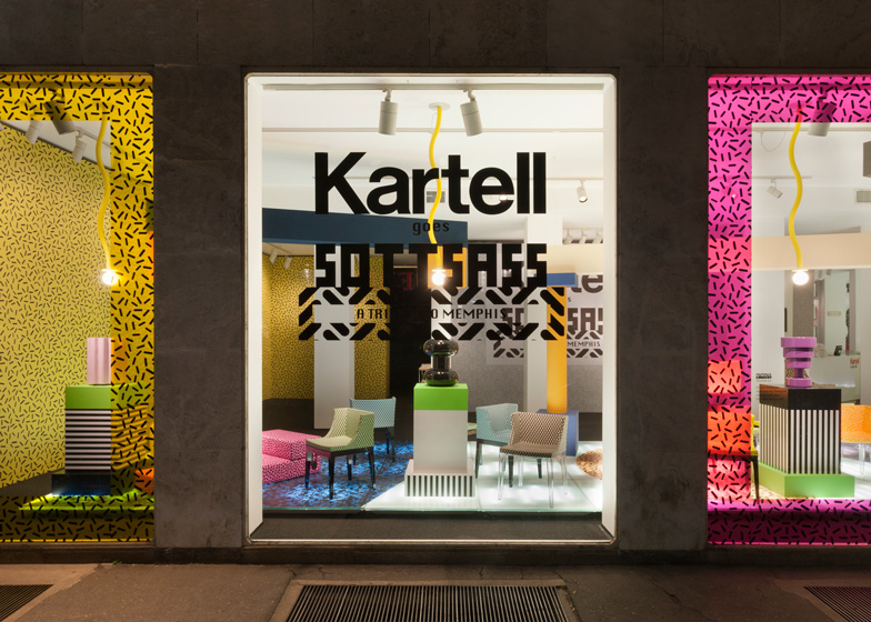Kartell presents new Ettore Sottsass collection in Memphis-themed exhibition