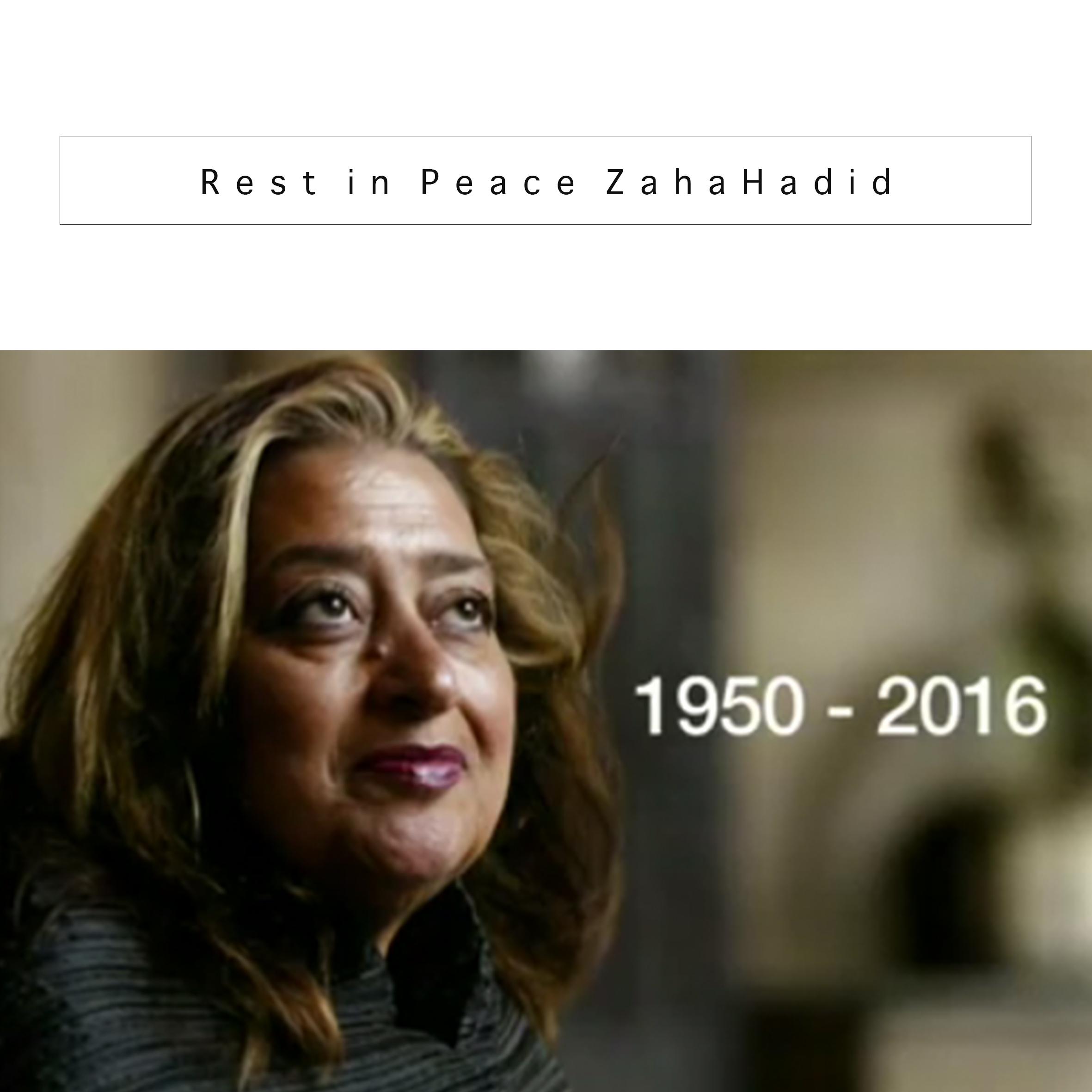 RIP Zaha